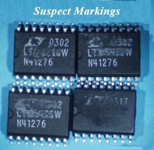 NJMET: Mission Imposter electronic component with suspect markings